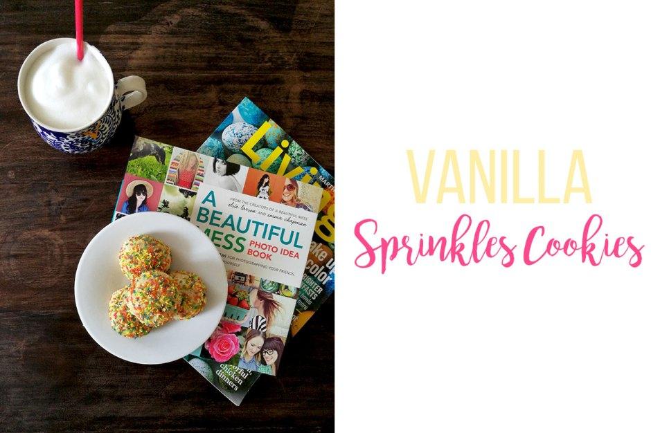 vanilla sprinkle cookies
