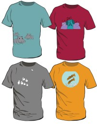 LITTLE FISH TEES- designed with artwork by Little fish artists