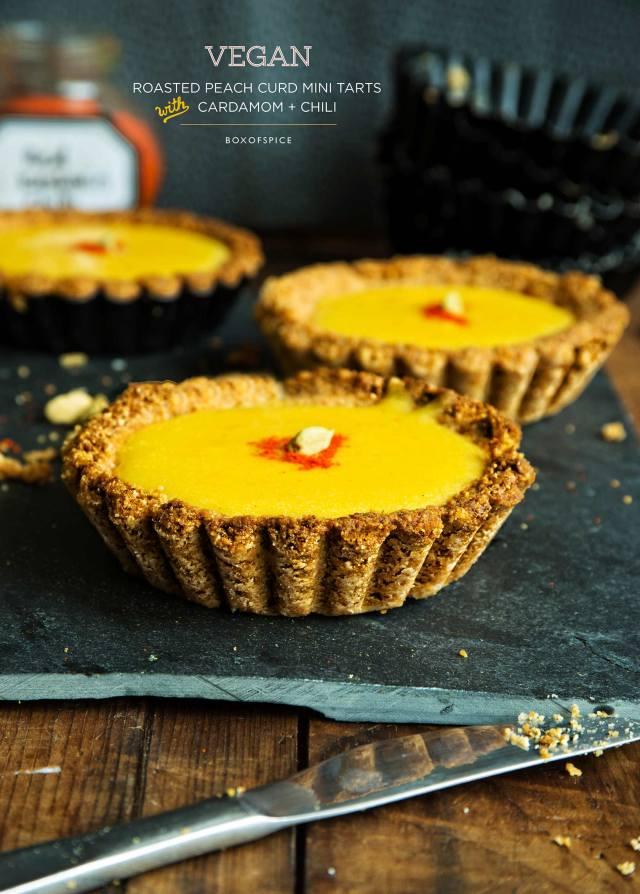 peach curd tarts