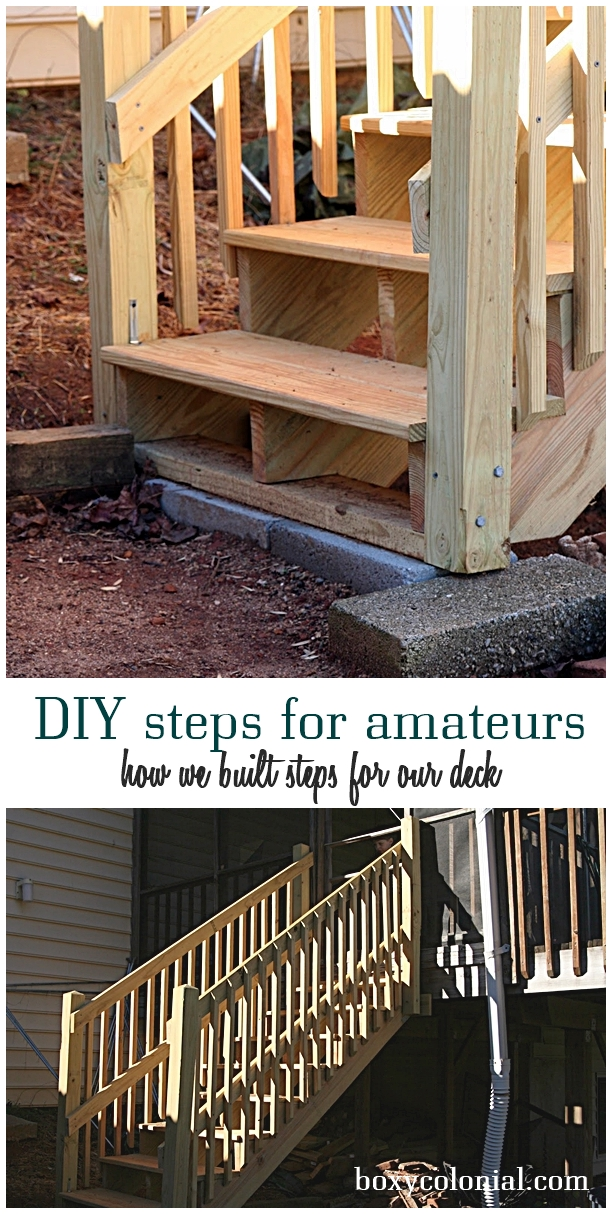 how we built steps for our back deck