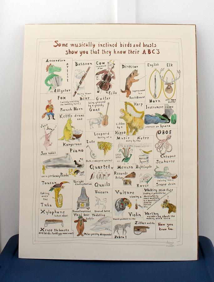 alphabet animal poster
