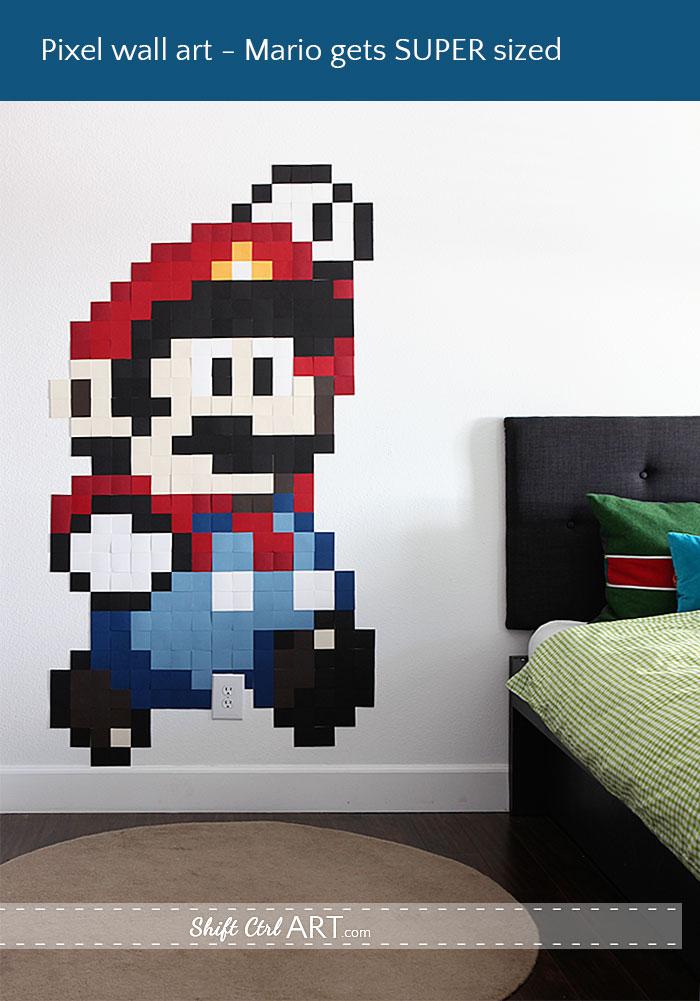 Pixel-wall-art-Mario: Shift Ctrl Art