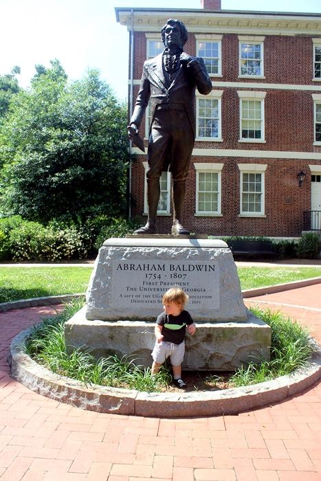 Abe and Abraham Baldwin statue