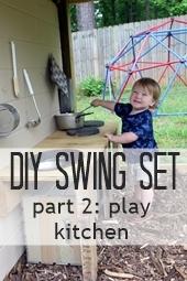 swing set play kitchen