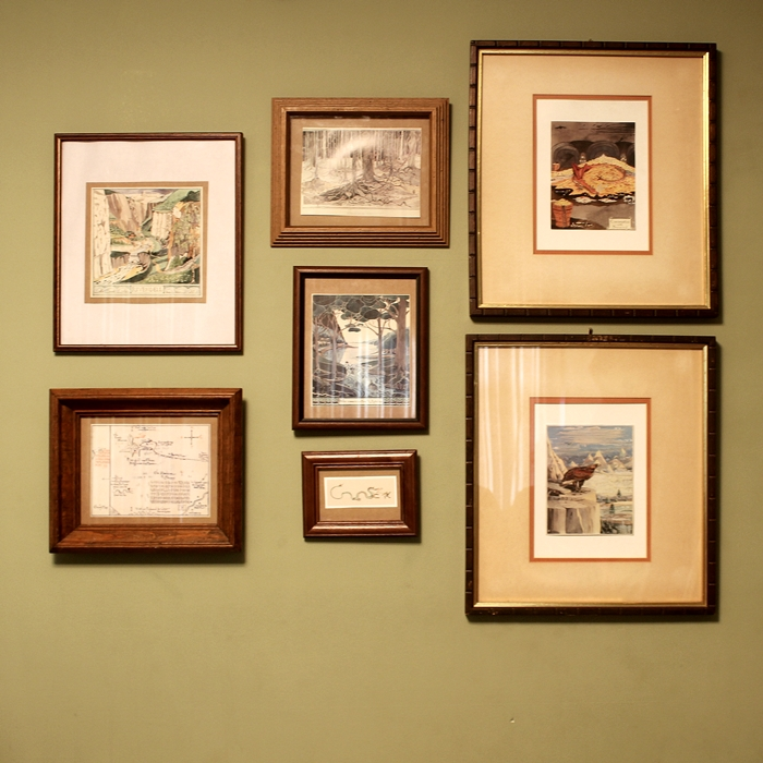hobbit gallery wall