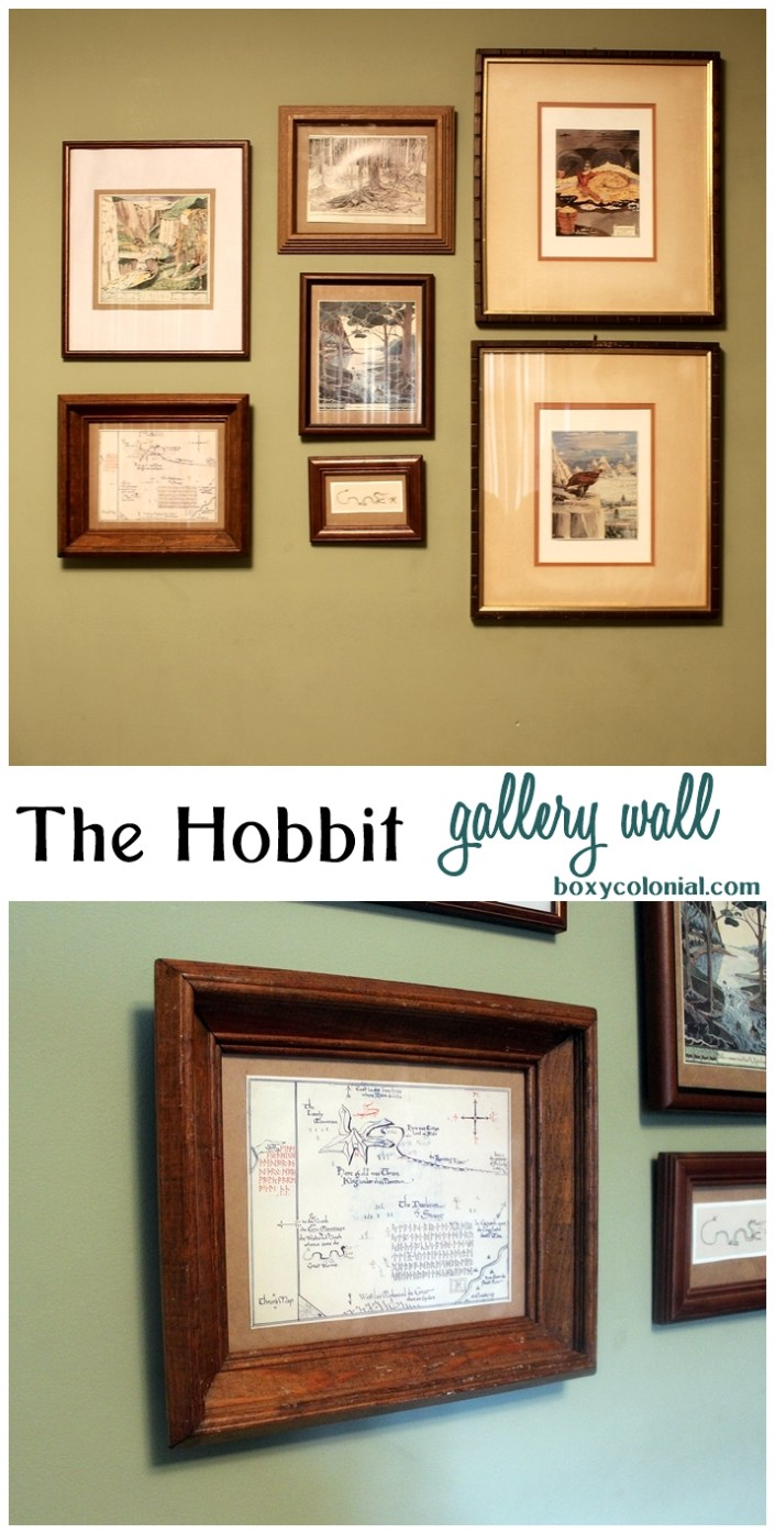The Hobbit Gallery Wall with J.R.R. Tolkien Illustrations