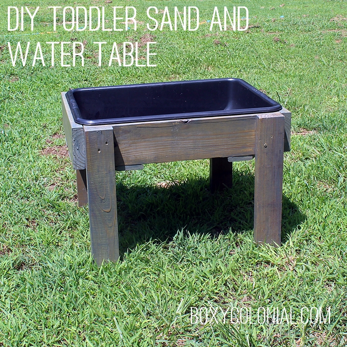 DIY Toddler Water Table from Recycled Wood: The Backyard Just Keeps Getting FUNNER