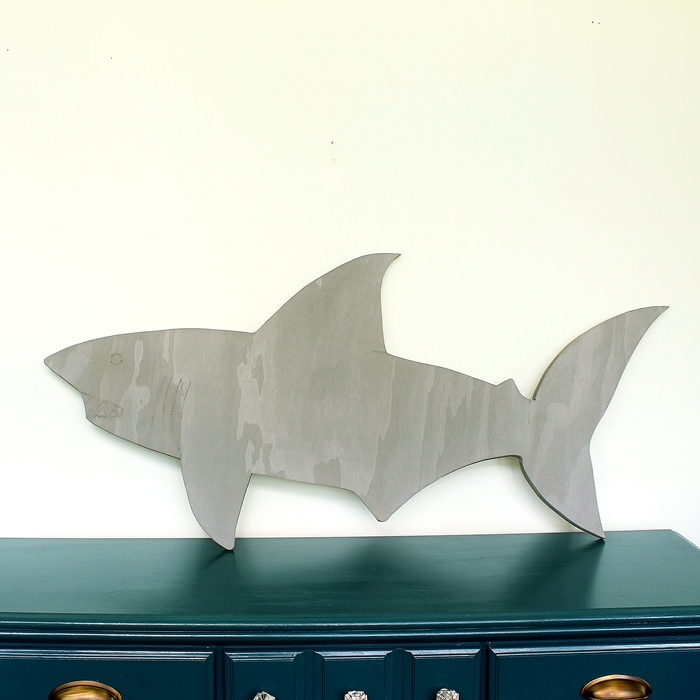 wooden shark with dremel detailing