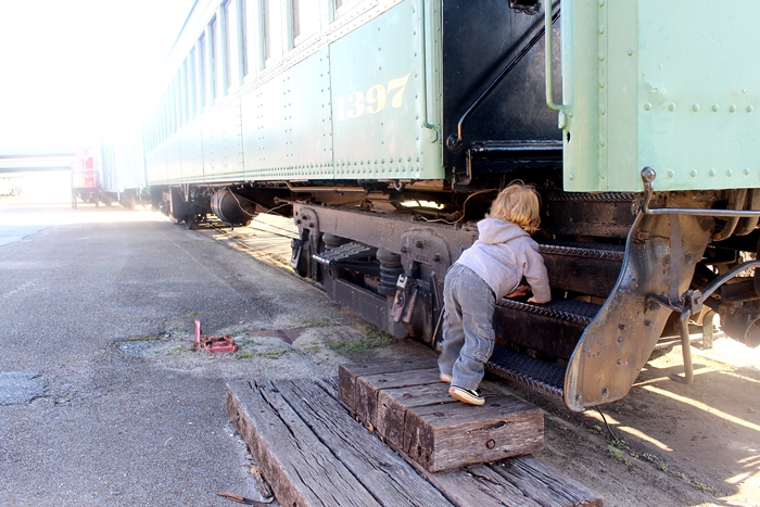 abe on a train