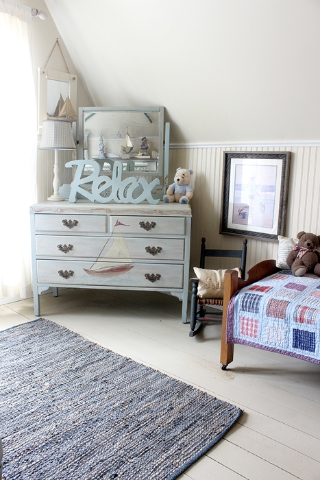 kids' Nantucket bedroom or nursery