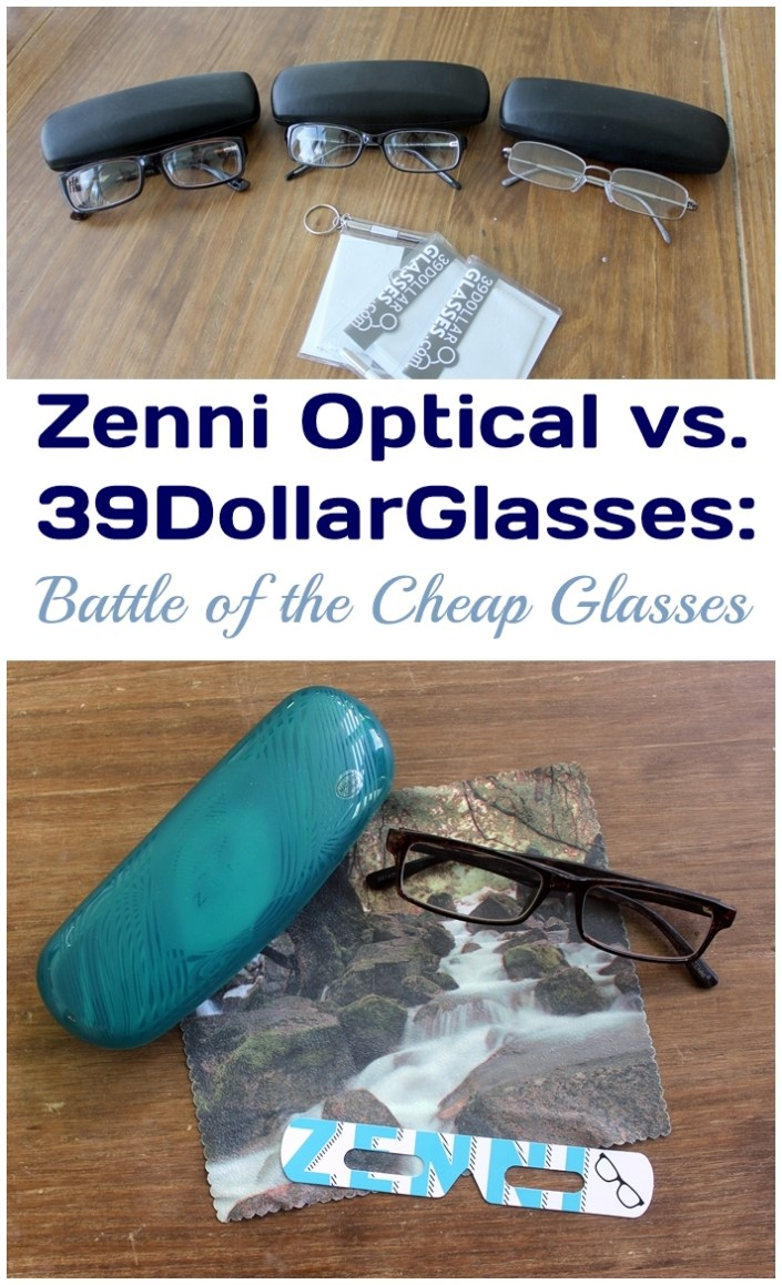 Review comparing Zenni Optical with 39 Dollar Glasses