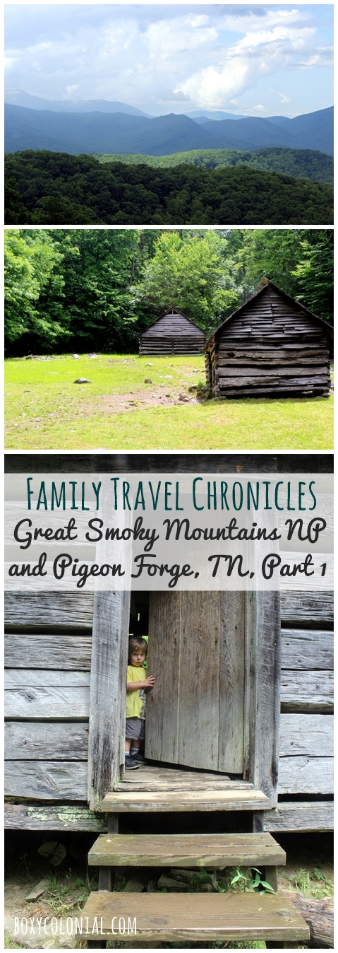 Traveling with kids to the Great Smoky Mountains National Park and Pigeon Forge, TN: Sugarlands Visitor Center, Junior Ranger books, and Roaring Fork Motor Trail