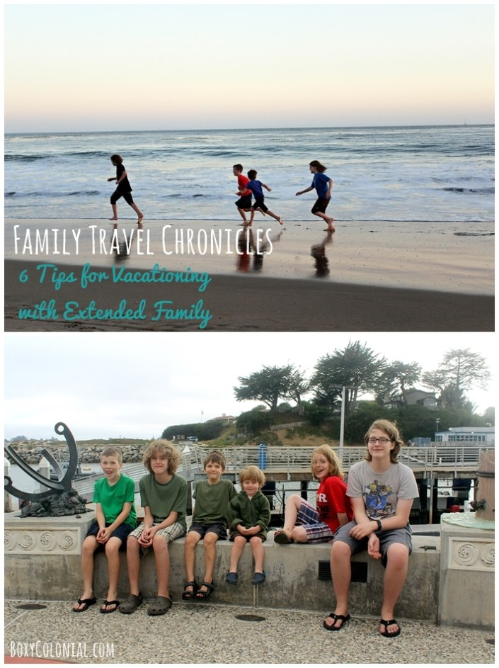 Six tips for vacationing (happily!) with multi-generational, extended family groups. Great ideas for fun family travel from Boxy Colonial blog
