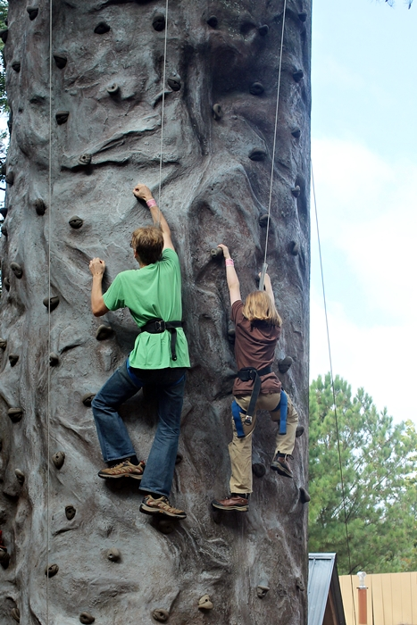 rock climbing at Stone Mountain Park