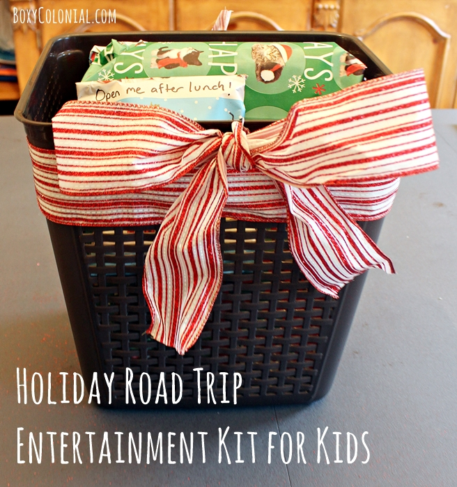 Make a gift package to keep kids entertained in the car during holiday travels