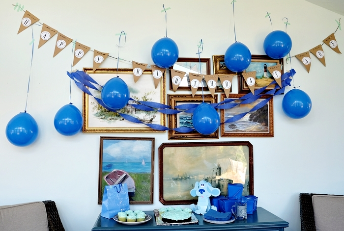 blue's clues party decorations