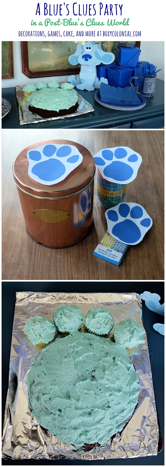 decorations, games, pawprint cake and more: throwing a Blue's Clues party in a post Blue's Clues world