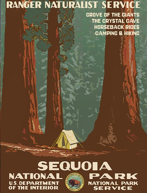 Sequoia National Park poster from freevintageposters.com