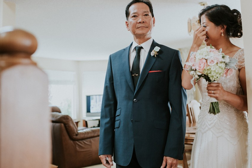 vancouver bride and her father