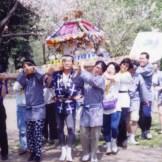 1994・合同隊集会で神輿