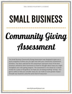 Small Business Community Giving Assessment