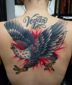 A vegan tattoo by Brad Stevens