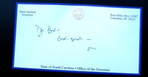The governor's note.