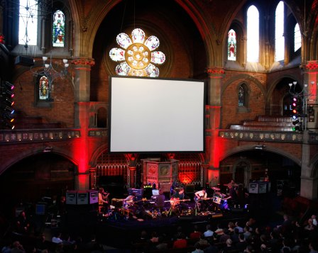 British Sea Power live soundtrack to Man of Aran - Union Chapel, London