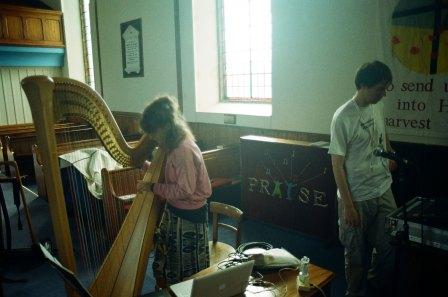 Serafina Steer soundchecking at Ebeneezer Church, Branchage 2011