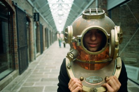 An antique diving bell, just one of the array of oddities and trinkets to be found in the Branchage Box Office in 2011