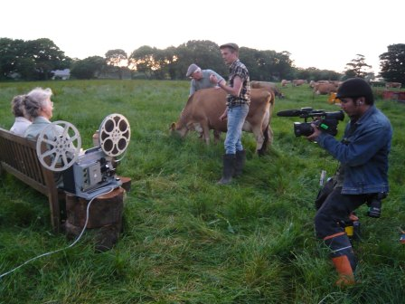 Directors Michael Pearce and Brian Liu make the 2008 Branchage Trailers.. the world's only cow cinema.. yes Cow as screen.