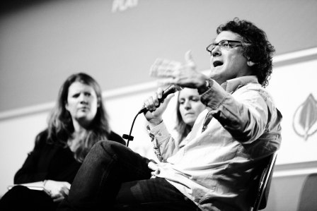 Editor Joe Bini, Hannah Patterson & Volcanologist Georgina Sawyer talk 'Encounters at the End of the World' for the Opening Night Screening at the Jersey Opera House 2009