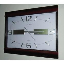 Small Crop Of Analog Digital Wall Clock
