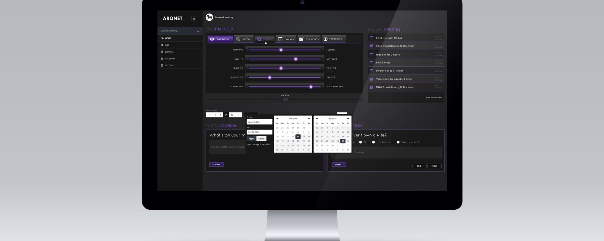 Dashboard Screen, UI & UX Design