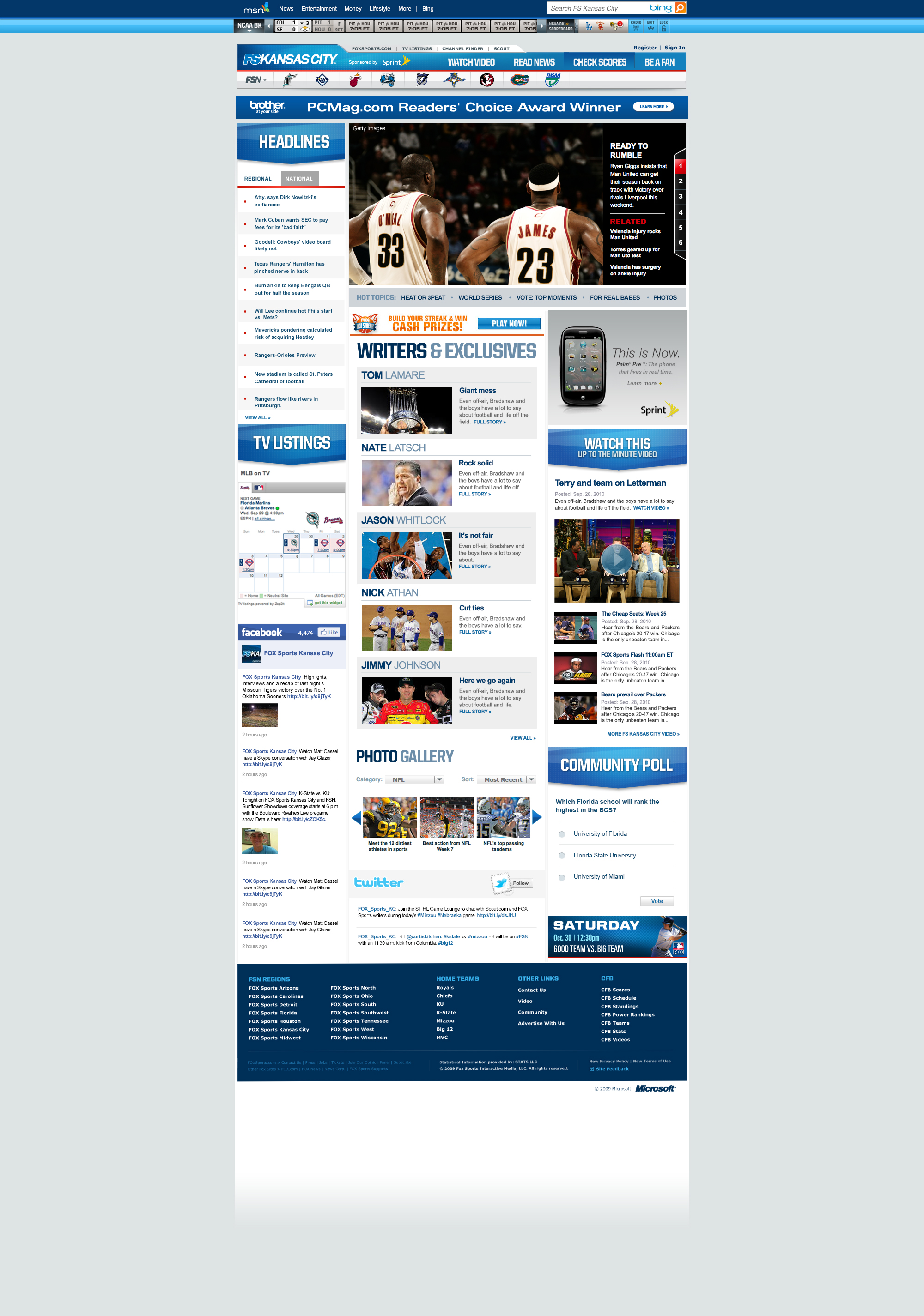 FoxSports-regional-home-page