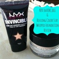 NYX Invincible & Revlon ColorStay Whipped Foundation Review