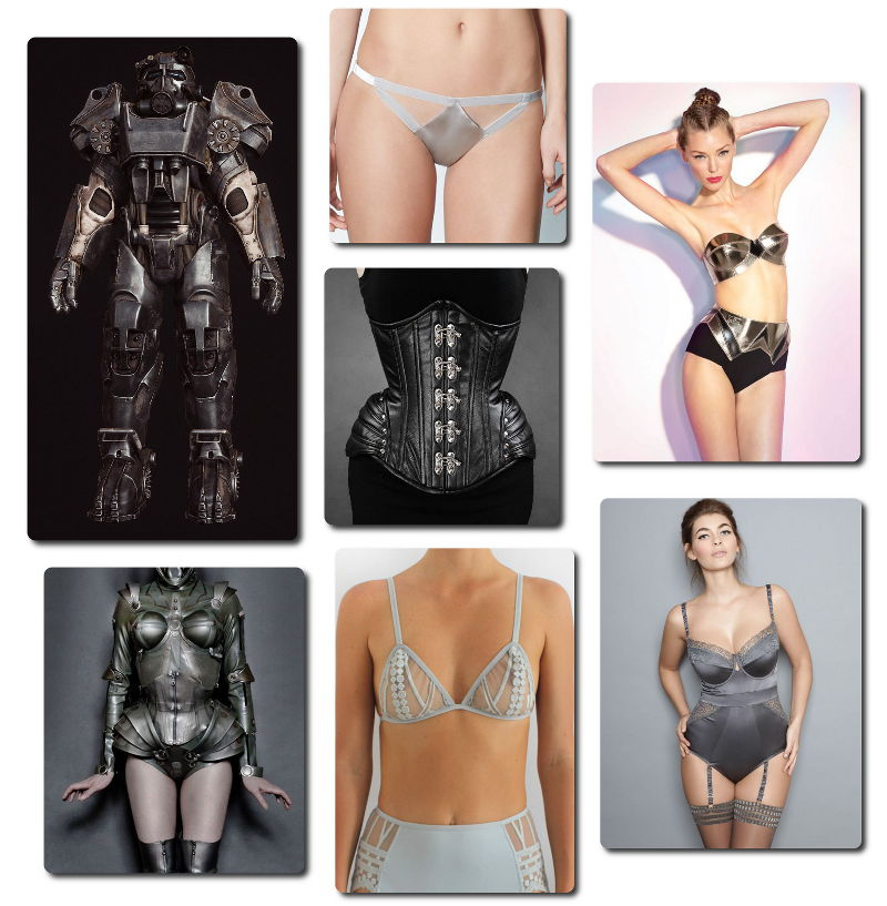 Fallout Inspired Lingerie - Power Armour, Brotherhood of Steel