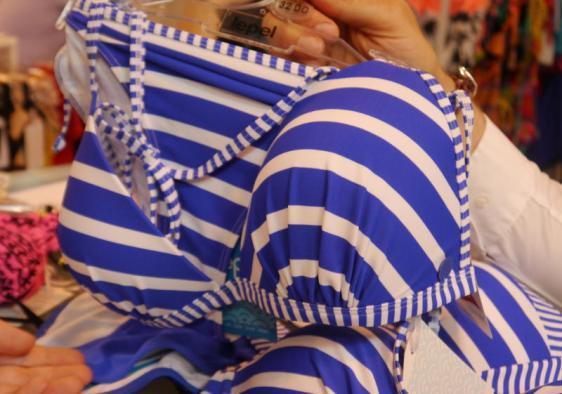Lepel Swim Riviera Triangle Bikini Blue White
