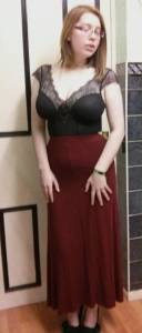 Lingerie as outerwear - Gossard Desire Soft Body with Maxi Skirt (4)