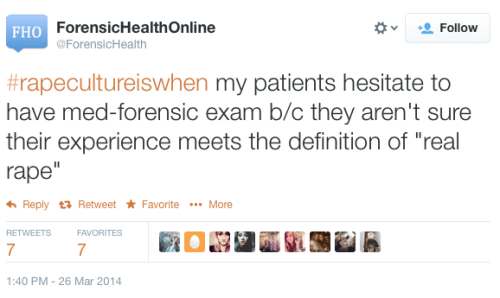Rape Culture Is When... Tweet - ForensicHealth