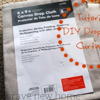 How To: Drop Cloth Curtains
