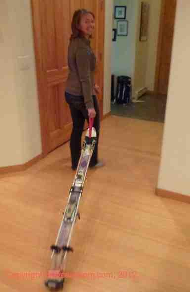walk with portaski ski roller