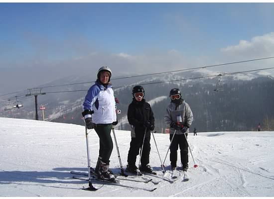 judy berna and sons adaptive skiing at Park City Utah