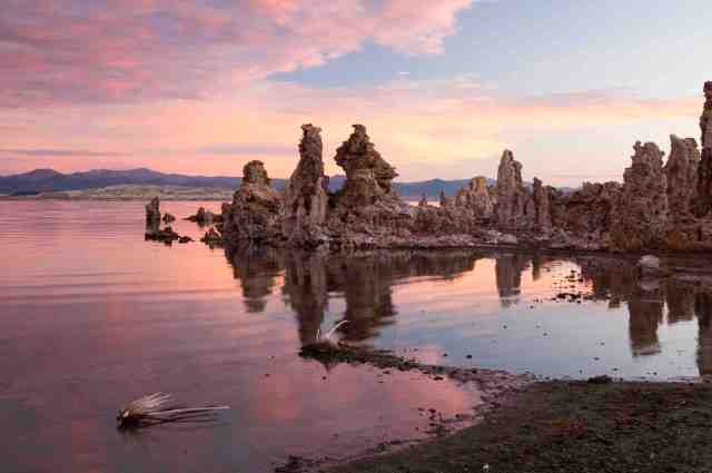 Tufa formations on Mono Lake in the Owens Valley of California. Photo courtesy Visit Mammoth Lakes.