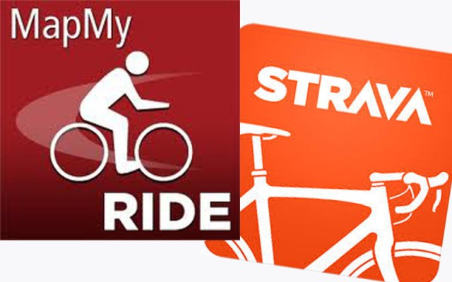map my ride  strava logos