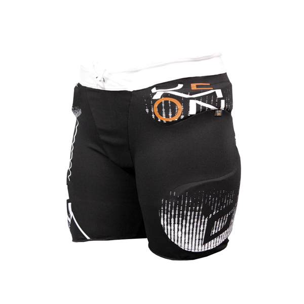 demon padded ski and snowboard shorts.