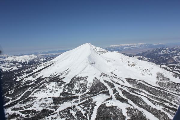 aerial view of big sky montana