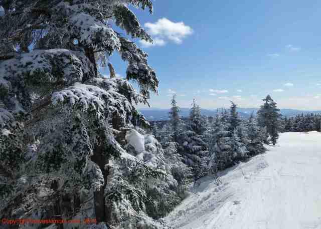 snowy killington view