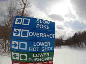 trail sign at Sugarbush