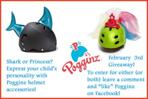 Pogginz Helmet Accessories for Kids (Shark & Princess Giveaway)